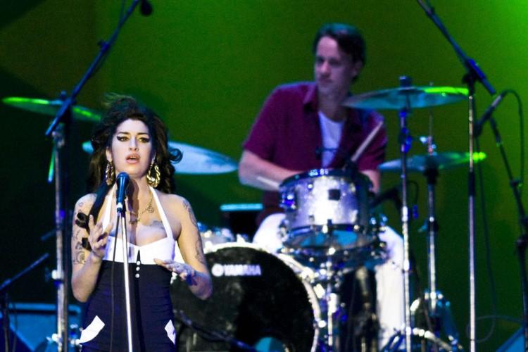 SÃO PAULO, SP, BRASIL, 15-01-2011 23h44: Summer Soul Festival: Show da cantora inglesa AMY Winehouse  na Arena Anhembi, em Sao Paulo(Foto: Eduardo Knapp/Folhapress,ILUSTRADA ) exclusivo FOLHA.