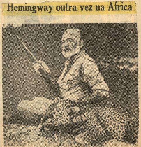Hemingway na Folha da Noite - 1954 - x