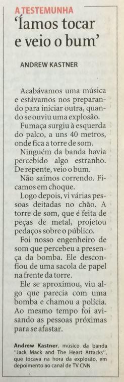 Relato publicado pela Folha em 28 de julho de 1996