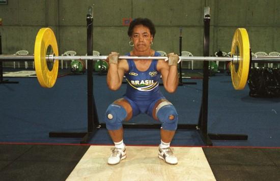 A atleta Maria Elizabete Jorge em seu primeiro treino em Sydney (Crédito: Washington Alves/COB/Divulgação)