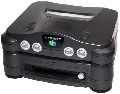 O 64 Disk Drive acoplado no videogame da Nintendo (Foto: Reprodução)