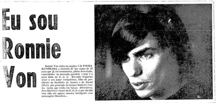 Manchete da Folha em 12 de setembro de 1966