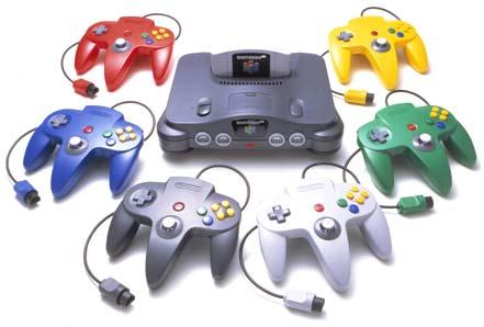 O console Nintendo 64 e seus controles coloridos (Foto: Reprodução)