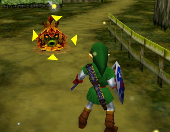 """O personagem Link, de """"The Legend of Zelda: Ocarina of Time"""", apresenta o """"Z-Targeting"""" ao mundo (Foto: Reprodução)"""