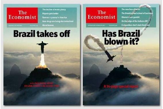 """Capa da revista """"The Economist"""" com o Cristo Redentor"""
