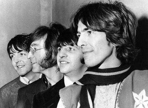 Da esq. para a dir. Paul McCartney, John Lennon, Ringo Starr e George Harrison. (Foto: Associated Press)