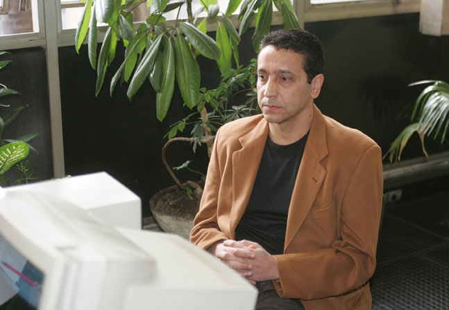 O empresário Sergio Gomes da Silva, o Sombra, depõe no Fórum de Santo Andre (SP) (Foto: Luiz Carlos Murauskas - 22.jul2006/Folhapress)